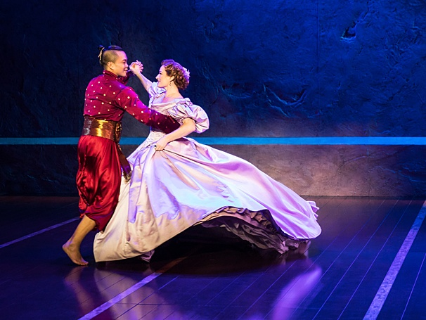 Rodgers and Hammerstein's 'The King and I' continues through April 23. Jose Llana as The King of Siam & Laura Michelle Kelly as Anna Leonowens Photo courtesy of Matthew Murphy