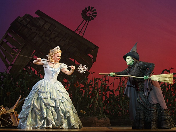 Wicked Elphaba and Glinda Joan Marcus