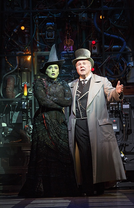 Elphaba and the Wizard Photo courtesy of Joan Marcus