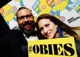 Christopher Lueck and Amanda Pekoe at the Obie Awards 2017 Photo courtesy of Amanda Pekoe/The Pekoe Group