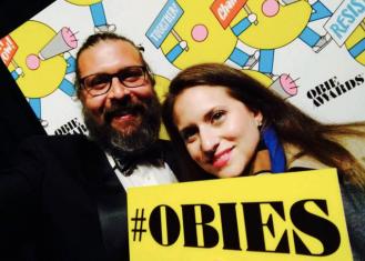 Christopher Lueck and Amanda Pekoe at the Obie Awards 2017 Photo courtesy of Amanda Pekoe/The Pekoe Group