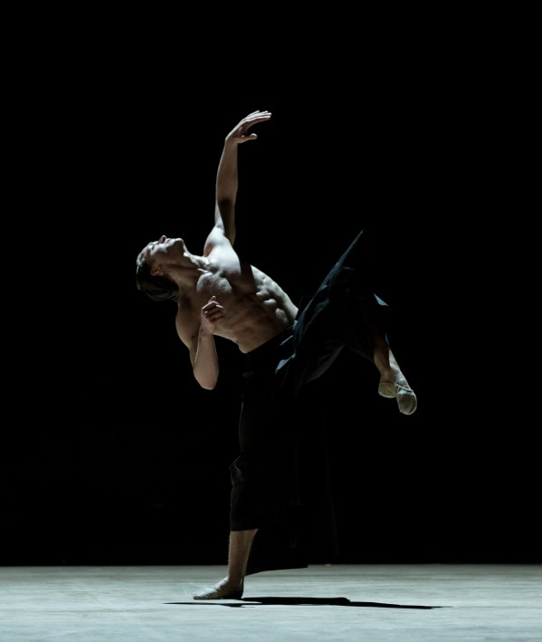Royal Ballet Soloist Matthew Ball in Wayne McGregor's Obsidian Tear; photo by Andrej Uspenski, courtesy The Royal Ballet