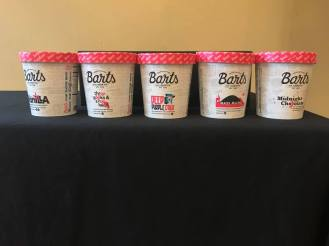 Bart's Ice Cream flavors offered at Zumix event. Photo courtesy of Zumix