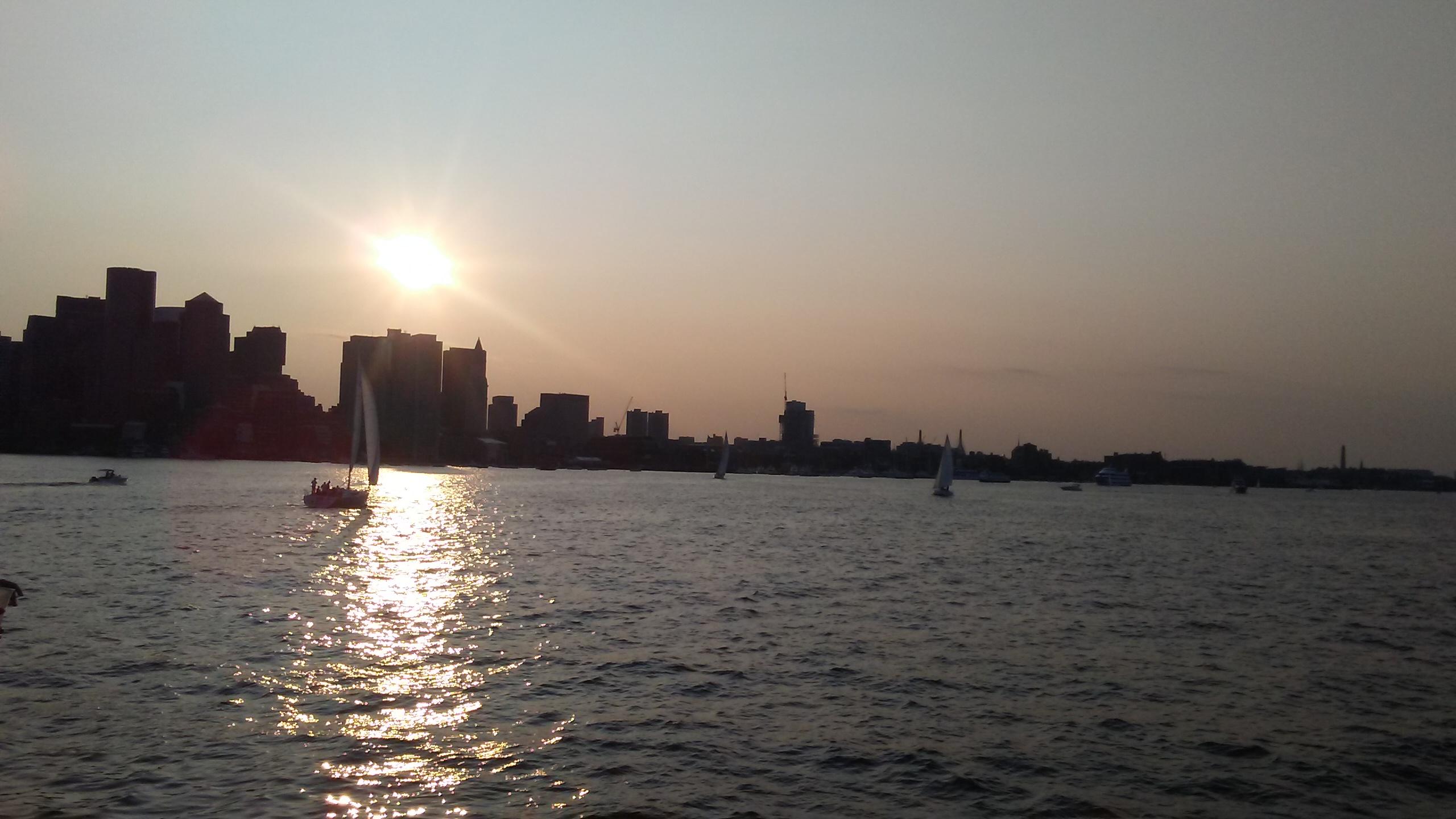 Boston skyline view