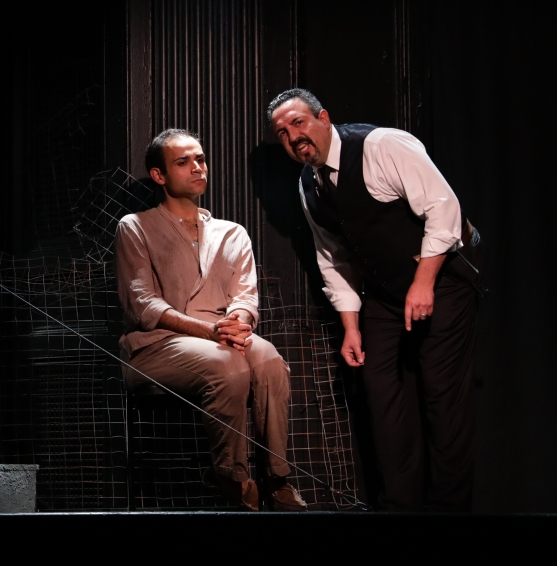 Eddy Cavazos and Luis Negron as Warden Photo courtesy of the Lyric Stage