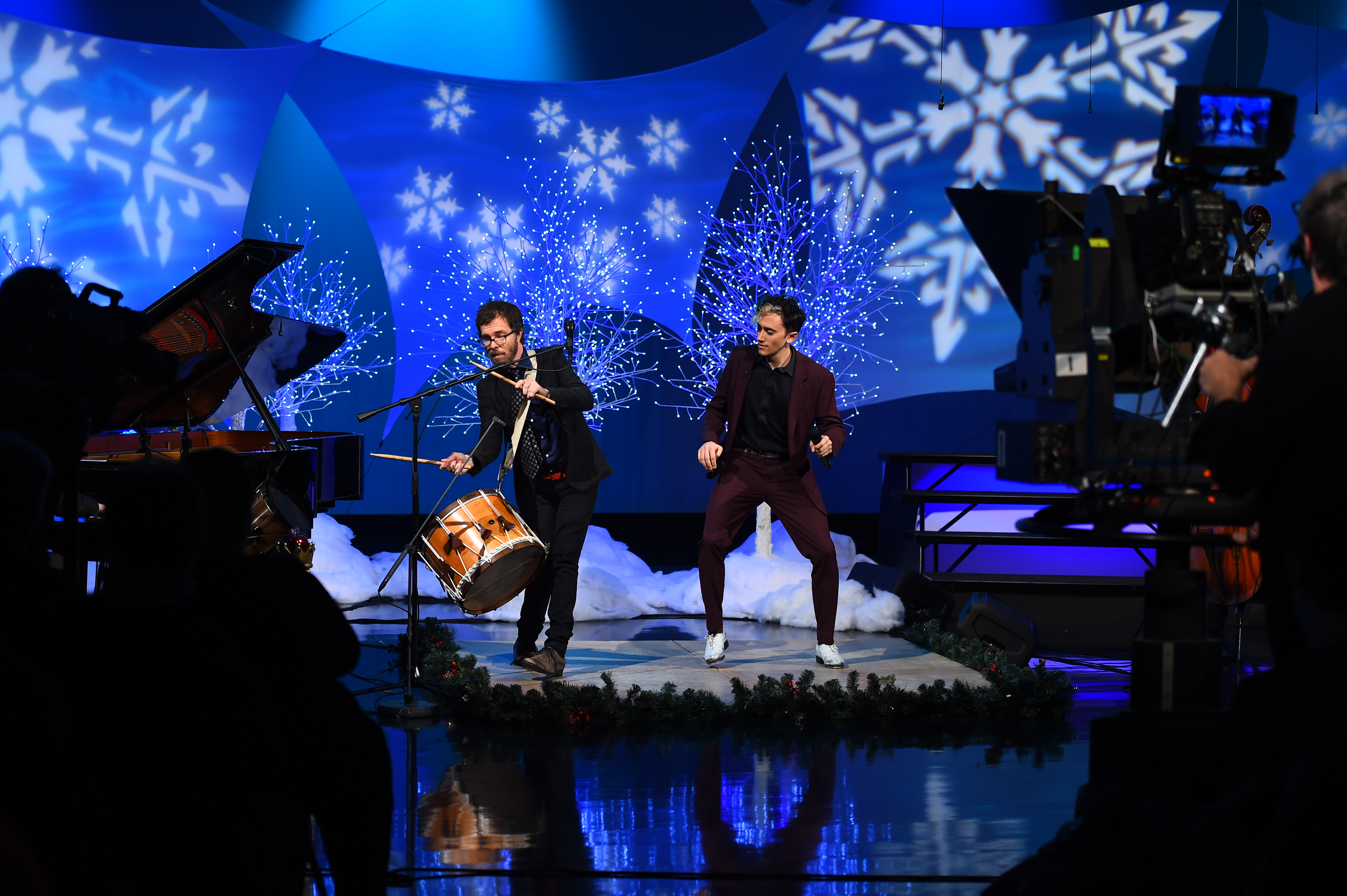 Ben Folds and Caleb Teicher perform on Tis the Night (Meredith Nierman - WGBH)