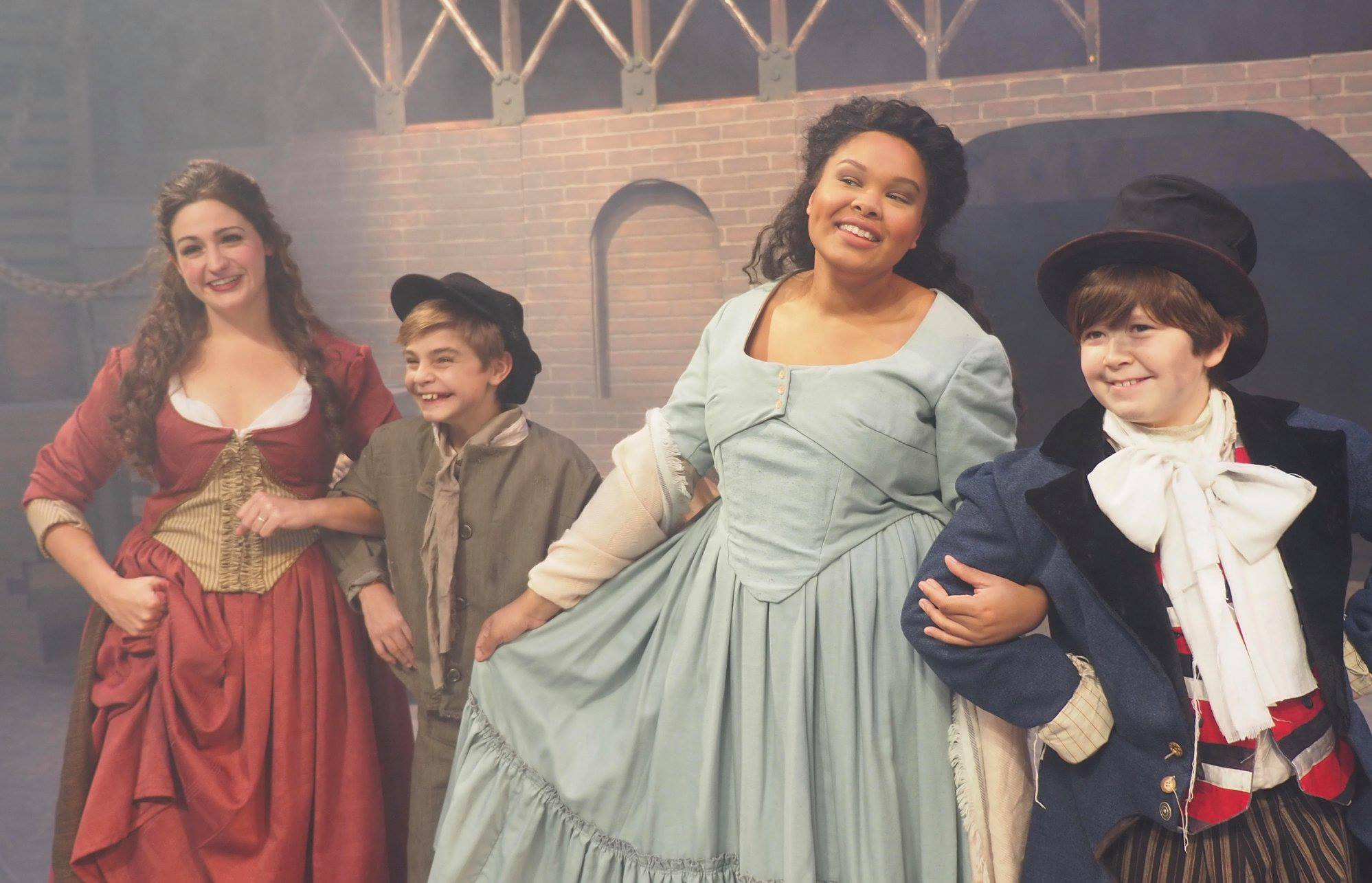 Company Theatre's Oliver- Nancy, Oliver, Bet, and Artful Dodger