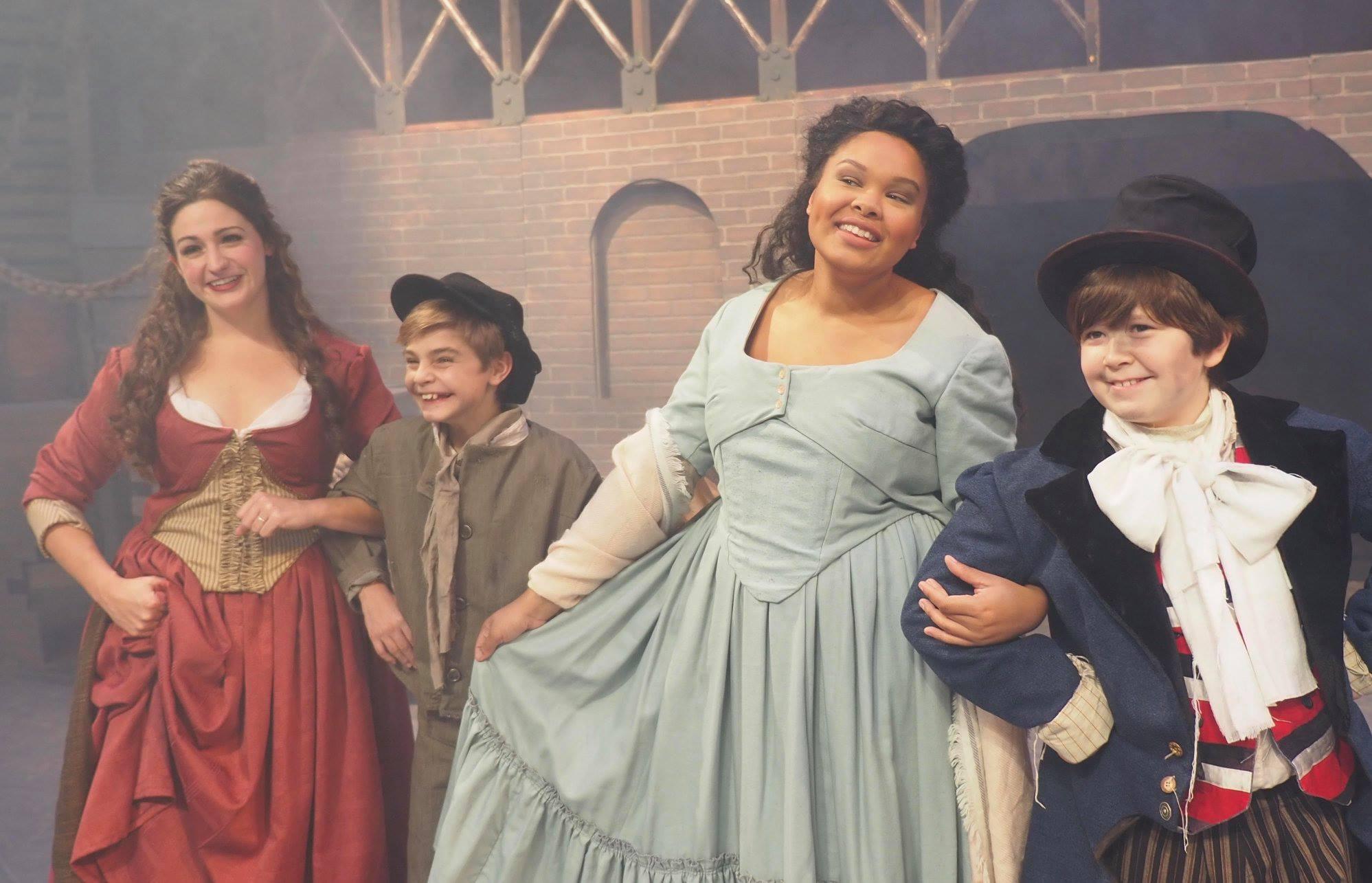 Company Theatre's Oliver- Nancy, Oliver, Bet, and Artful Dodger