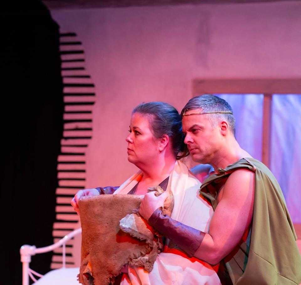 Flat Earth Theatre 'Not Medea' Juliet Bowler and Gene Dante