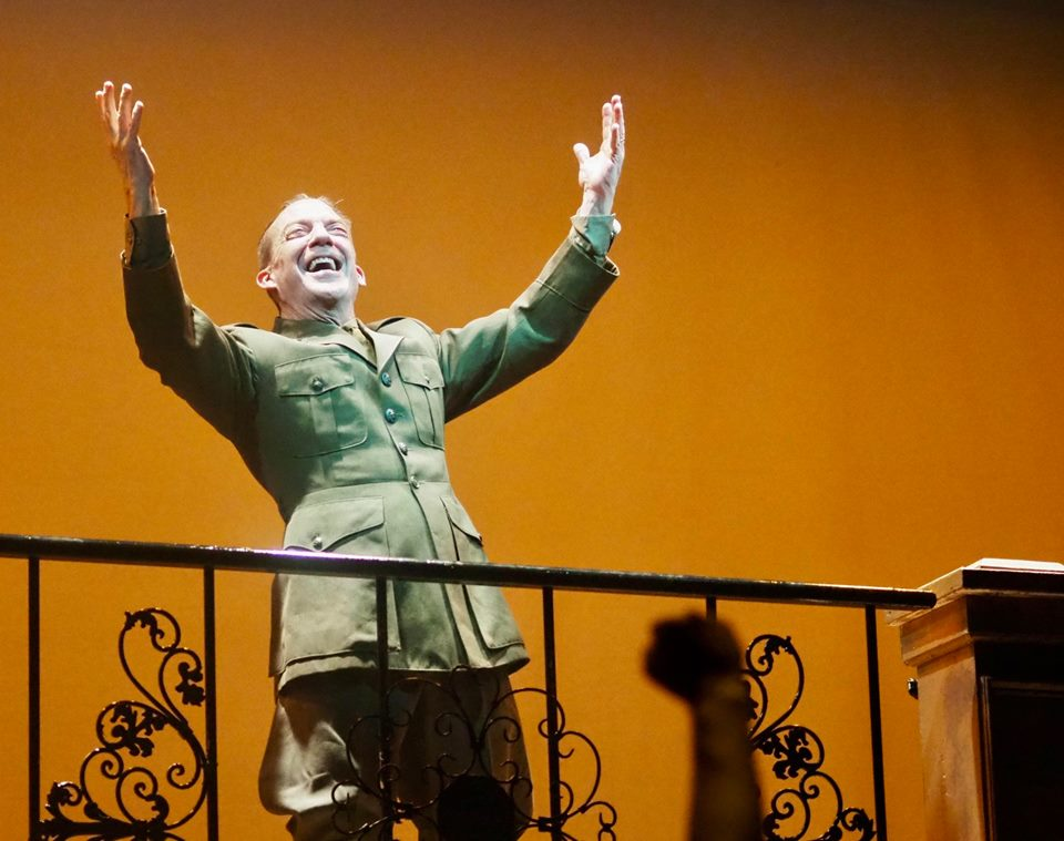 The Company Theatre Evita Dan Kelly as Peron