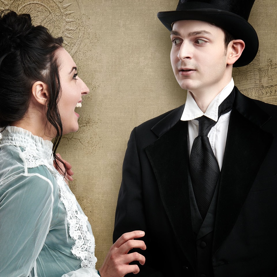 Footlight Club The Importance of Being Earnest Elizabeth Loranth as Gwendolyn and Michael Jay as Jack Worthing