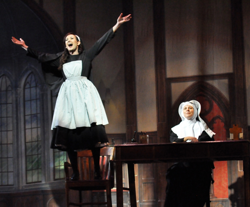 Reagle Music Theatre of Greater Boston The Sound of Music Aimee Doherty as Maria and Mara Bonde as Mother Abbess