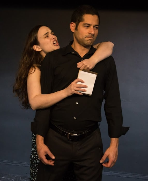 Theatre@First Hamlet Hatem Adell and Evelyne Cardella Ophelia Johanna Bobrow