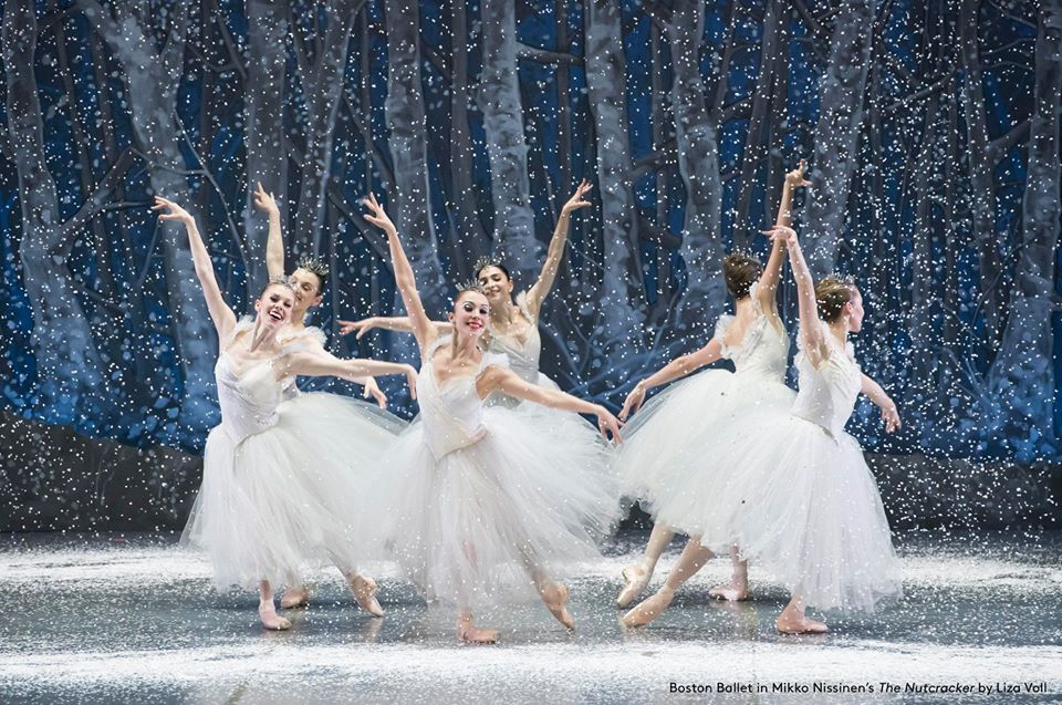 Boston Ballet The Nutcracker Snow fairies by Liza Voll