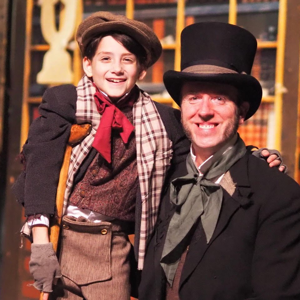 Company Theatre A Christmas Carol Owen George as Tiny Tim as Bill Carter as Bob Cratchit