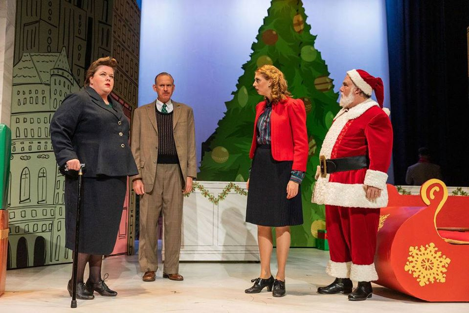 Greater Boston Stage Company Miracle on 34th Street Leslie, Kris, and cast