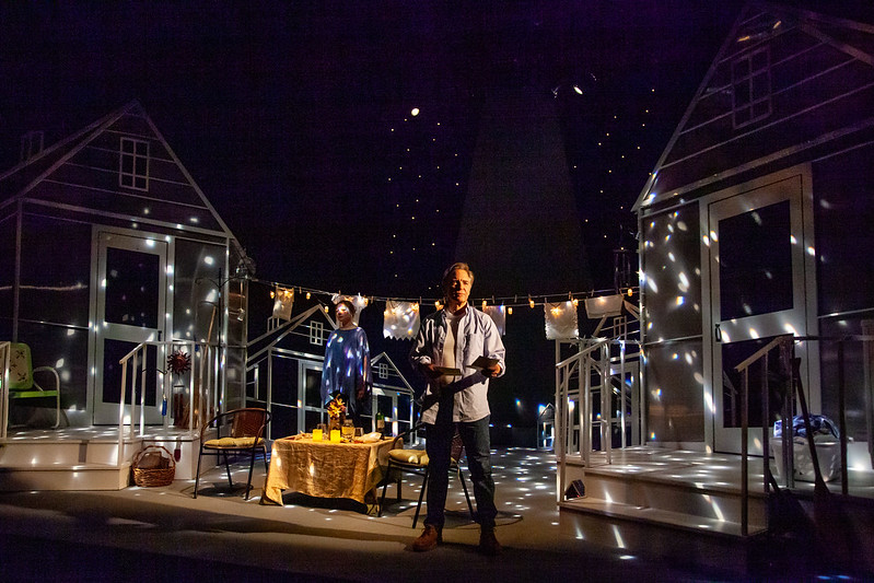 Merrimack Repertory Theatre Brazda and Adkins in lights