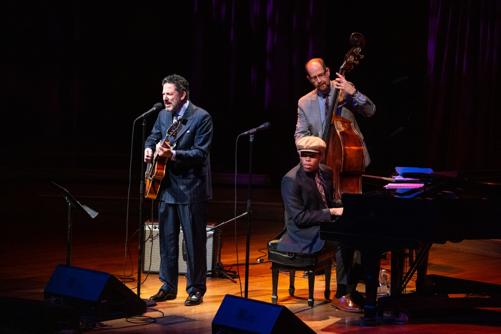 Celebrity Series of Boston presented the John Pizzarelli Trio and Veronica Swift at Sanders Theatre.
