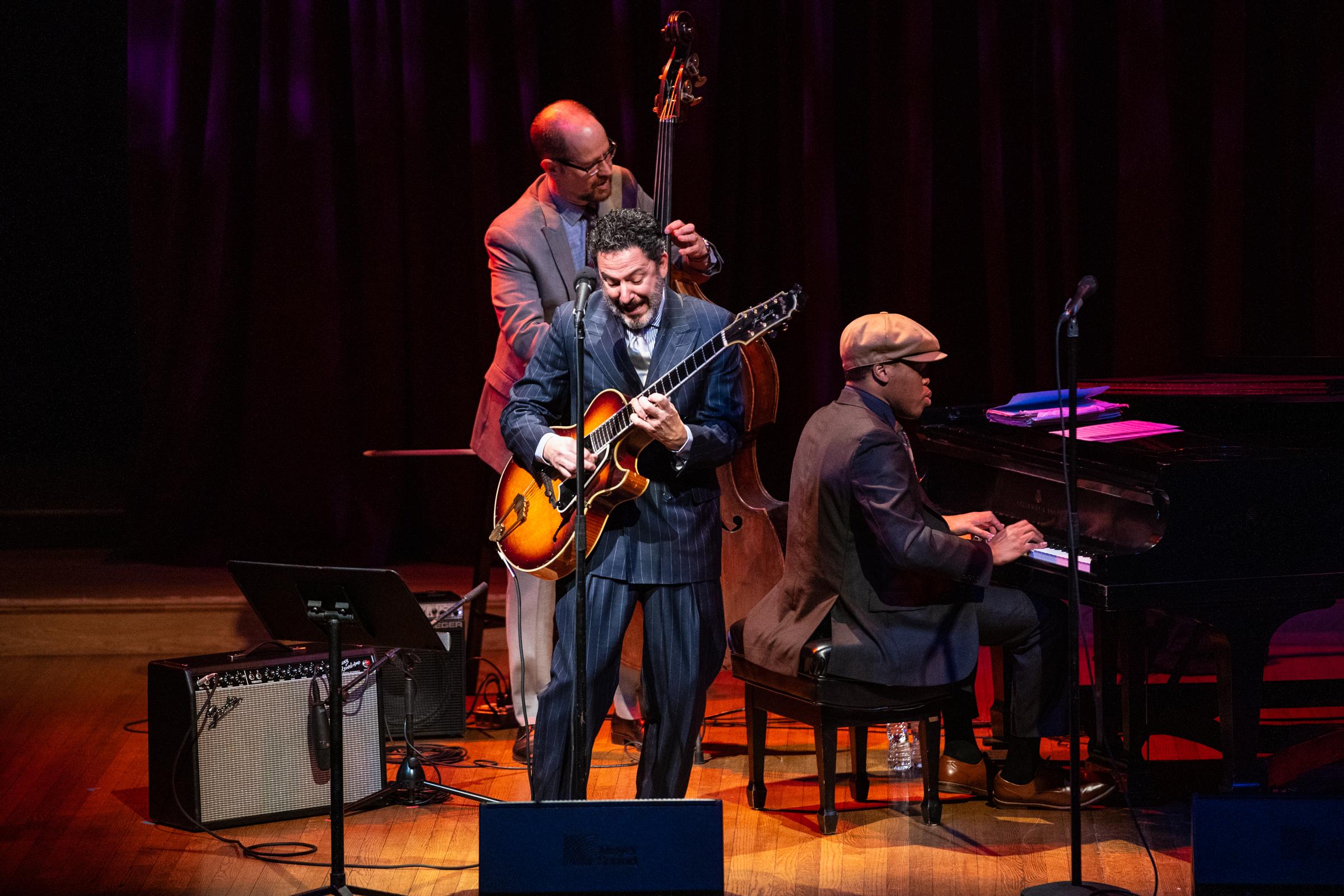 Celebrity Series of Boston presented the John Pizzarelli Trio and Veronica Swift at Sanders Theatre.